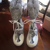 Coach Women's Sasha Rabbit Fur Vibram Boots  6.5 Worn Once. Photo
