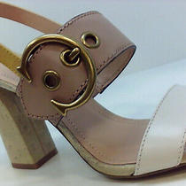 Coach Women's Shoes Heeled Sandals Yellow Size 10.0 Oxox Photo