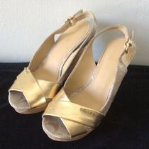Coach Womens Shoes - Jessy Gold Wedges Sz 7 Photo