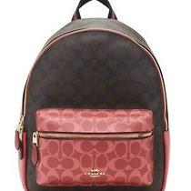 Coach Women's Signature Rucksack Backpack Brown Multi Bag Photo