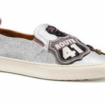 Coach Women's Slip on Shoes Sneakers With Cherry Patches Silver Size 7.5 H6gq Photo