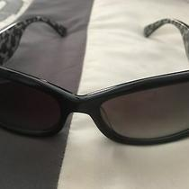 Coach Women's Sunglasses Black Silver Logo Photo