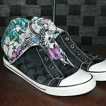 Coach Women's Sz 8.5 High Top Bonney Butterfly Sneakers Gym Shoes Photo