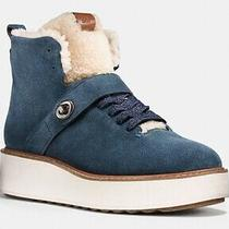 Coach Womens Urban Hiker Boot Dark Denim. Sz 8 Photo