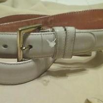 Coach Women's White Belt Size-30     /90cm - Euc Photo