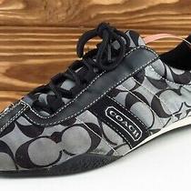 Coach Women Size 8.5 M Black Fashion Sneakers Fabric Kirby Photo