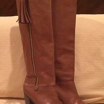 Coach Women Therese Cognac Tall Leather Tassel Zip Knee High Boots 6.5 Eur 37 Photo