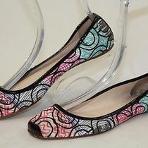 Coach Womens 7.5 B Portia Colorful Signature Print Canvas Ballet Flats Shoes Hj Photo
