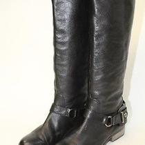 Coach Womens 8.5 B Natale Tall Black Leather Harness Fashion Riding Boots Aci Photo