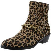Coach Womens Allen Beige Leather Ankle Booties Shoes 7 Medium (Bm) Bhfo 3053 Photo