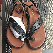 Coach Womens Beach Slip on Toe Ring Thong Studded Feather Ankle Strap Sandals Photo