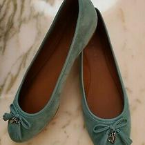 Coach Womens Benni Slide Suede  Ballet Flat Shoes Size 8.5b Photo