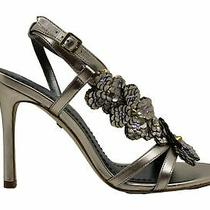 Coach Womens Bianca Peep Toe Casual Ankle Strap Sandals Champagne Size 5.0 Photo