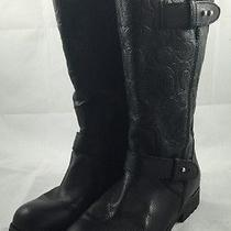 Coach Womens Black Leather
