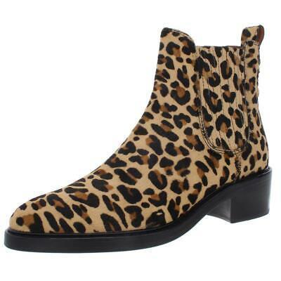 Coach Womens Bowery Black Calf Hair Booties Shoes 5.5 Medium (B,M) BHFO 9985 Photo