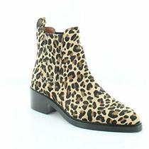 Coach Womens Bowery Bootie Leather Pointed Toe Ankle Natural Haircalf Size 5.5 Photo