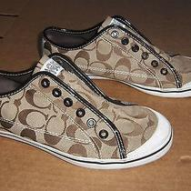 Coach Womens Brown Sneakers Shoes Size 8 Photo