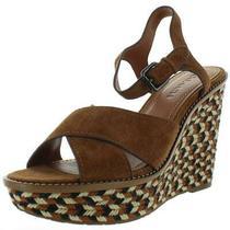 Coach Womens Brown Suede Platform Sandals Wedges 10 Medium (Bm) Bhfo 7787 Photo