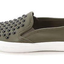 Coach Womens Chrissy Rivets Sprt Nappa Leather Low Top Slip on Green Size 6.5 Photo