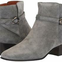 Coach Womens Chrystie Bootie Almond Toe Ankle Fashion Boots Grey Size 5.5 Photo