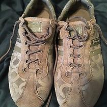 Coach Womens Fashon Sneaker Gray Suede Size 9.5 Photo