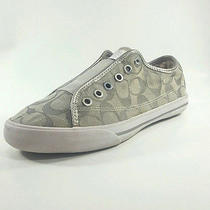 Coach Womens Gray Canvas  Sneakers Tennis Shoes Size 7.5  Photo