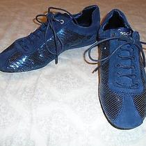 Coach Womens Hope Blue Suede Sequins Sneakers Size 8 M Photo