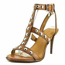 Coach Womens Isabell Ii Leather Open Toe Casual Strappy Sandals Brown Size 6.5 Photo