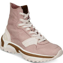 Coach Womens Leather Hight Top Lace Up Sneakers Fashion Blush Pink Size 10 Photo