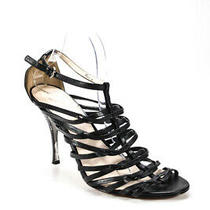 Coach  Womens Leather Strappy Fantasia Ankle Strap Sandals Black Size 11 Photo