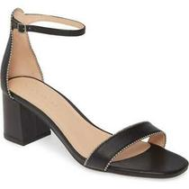 Coach Womens Maddie Leather Open Toe Casual Ankle Strap Sandals Black Size 6.5 Photo