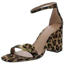 Coach Womens Maya Beige Calf Hair Dress Sandals Heels 5 Medium (Bm) Bhfo 8954 Photo