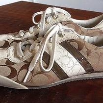 Coach Womens Meagan Brown  Sneakers Shoes Sz 10 Euc Photo