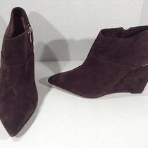 Coach Womens Oakdale Brown Suede Booties Wedge Heels Shoes Size 9.5 Zg-1070 Photo