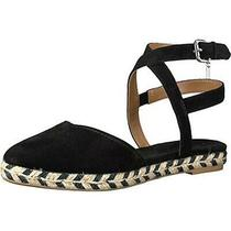 Coach Womens Ozzie Black Flats Espadrilles Sandals 8 Medium (Bm)  Photo
