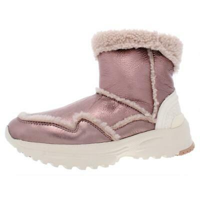 Coach Womens Portia Pink Metallic Winter Boots Shoes 10 Medium (B,M) BHFO 7325 Photo