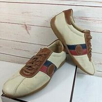 Coach Womens Signature C Canvas Leather Sneakers Size 8m Shoes Brown Beige Sonia Photo