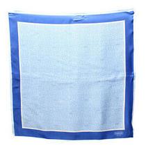 Coach Womens Silk Geometric Print Light Weight Scarf Blue Ivory Photo