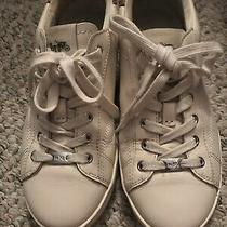 Coach Womens Sneakers Cream Off White Leopard Size 8 Photo