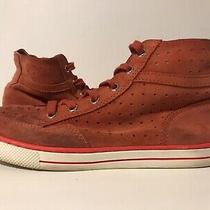 Coach Womens Suede Hightop Sneaker Sz 6.5 Red Tomatoe Pita  Photo