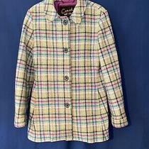 Coach Wool Gray Peacoat Vintage Plaid Multicolor Womens Size Small Photo