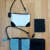 Coach Wristlet and Wallet Lot Four Items Photo