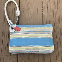 Coach Wristlet - Beach Theme - Shades of Seaside Blue & Sunset Orange Photo