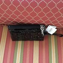 Coach Wristlet Black 43639 New With Tags Photo