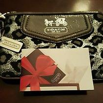 Coach Wristlet Black and Silver New Photo