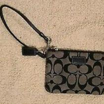 Coach Wristlet Black Gray Zipper and Clasp Photo