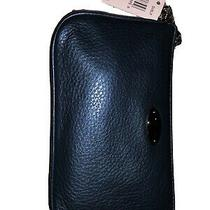 Coach Wristlet Blue Leather Photo