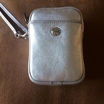 Coach Wristlet Camera Cell Phone Case Holder Fashionable Silver  Photo