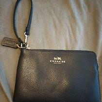 Coach Wristlet Cute Black Small Mini Leather Photo