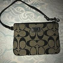 Coach Wristlet Grey and Black Photo